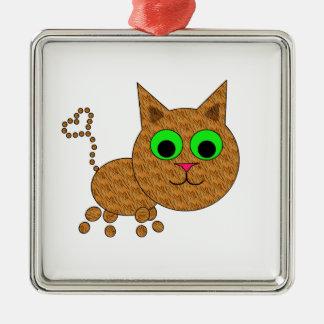Cute Kitty Metal Ornament
