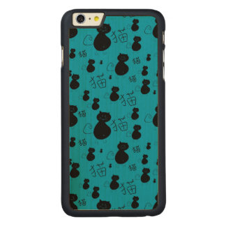 Cute kitty pattern carved® maple iPhone 6 plus slim case