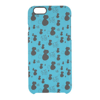 Cute kitty pattern clear iPhone 6/6S case