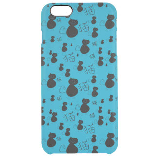 Cute kitty pattern clear iPhone 6 plus case