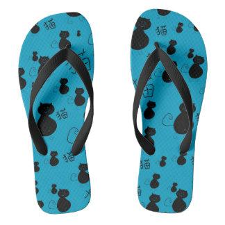 Cute kitty pattern flip flops