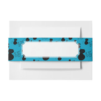 Cute kitty pattern invitation belly band