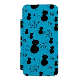 Cute kitty pattern iPhone SE/5/5s wallet case