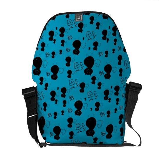 Cute kitty pattern messenger bag