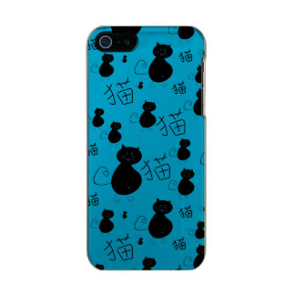 Cute kitty pattern metallic iPhone SE/5/5s case