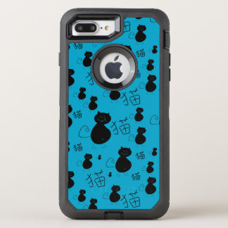 Cute kitty pattern OtterBox defender iPhone 7 plus case