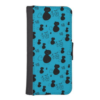 Cute kitty pattern wallet phone case for iPhone SE/5/5s