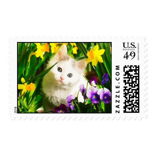 Cute Kitty Postage Stamp
