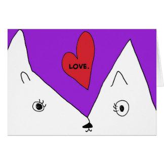 Cute Kitty Sends Love Notecard