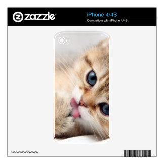 CUTE KITTY DECAL FOR iPhone 4S