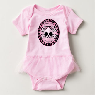 Cute Kitty Skull Baby Bodysuit