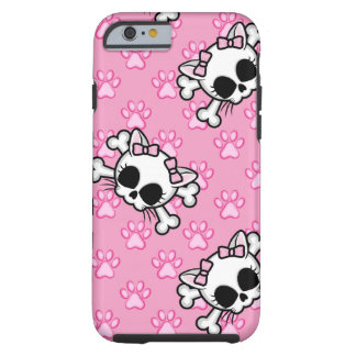 Cute Kitty Skull Tough iPhone 6 Case