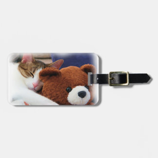 Cute Kitty Teddy Bear Bag Tag