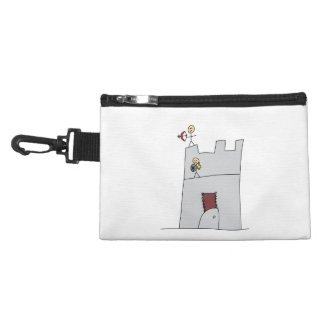 Cute Knights with Bow & Arrow & Sword in Castle Accessories Bags