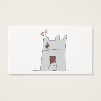Cute Knights with Bow & Arrow & Sword in Castle Business Card
