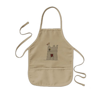 Cute Knights with Bow & Arrow & Sword in Castle Kids' Apron