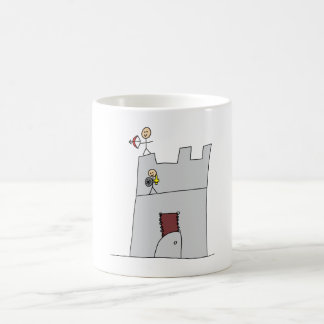Cute Knights with Bow & Arrow & Sword in Castle Magic Mug