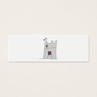 Cute Knights with Bow & Arrow & Sword in Castle Mini Business Card