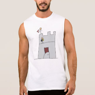 Cute Knights with Bow & Arrow & Sword in Castle Sleeveless Shirt