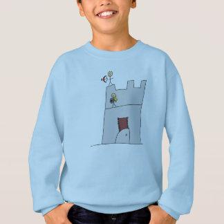 Cute Knights with Bow & Arrow & Sword in Castle Sweatshirt