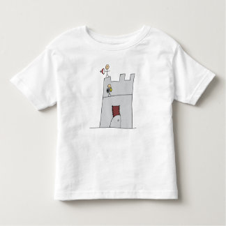 Cute Knights with Bow & Arrow & Sword in Castle Toddler T-shirt