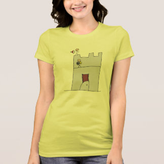 Cute Knights with Bow & Arrow & Sword in Castle Tshirt