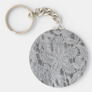 Cute knitted / crocheted doily Star Key Chain