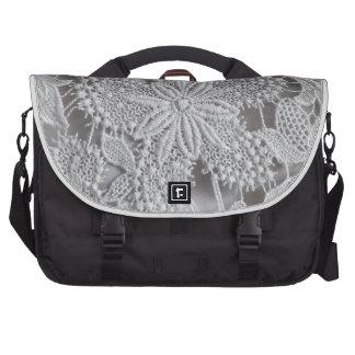 Cute knitted / crocheted doily Star Laptop Messenger Bag