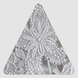 Cute knitted / crocheted doily Star Triangle Sticker