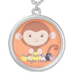 Cute Knitting Monkey Necklace