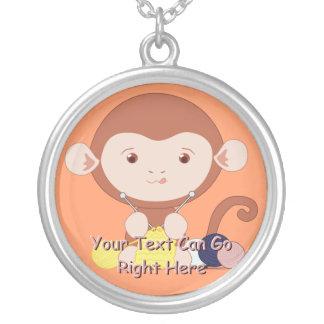 Cute Knitting Monkey Necklace