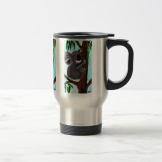 Cute Koala 15 Oz Stainless Steel Travel Mug