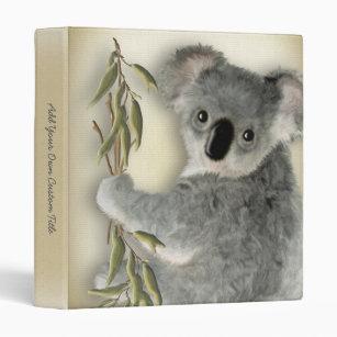 Cute Koala 3 Ring Binder