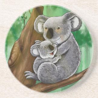 Cute Koala and Baby Coaster