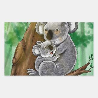 Cute Koala and Baby Rectangular Sticker