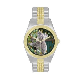 Cute Koala Australia Photo Gold 2 Wristwatch