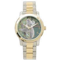 Cute Koala Australia Photo Gold 2 Wrist Watch