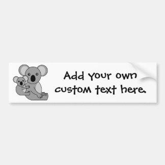 Cute Koala Bear and Baby Car Bumper Sticker