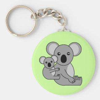 Cute Koala Bear and Baby Keychain