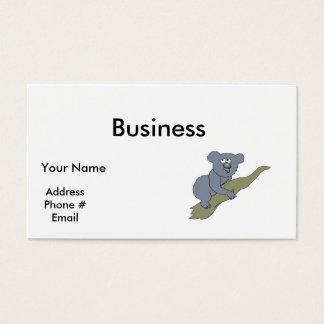 cute koala bear on branch business card