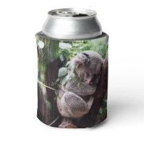 Cute Koala Bear relaxing in a Tree Can Cooler