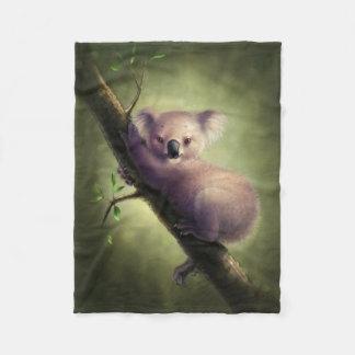 Cute Koala Bear Small Fleece Blanket