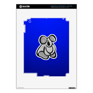 Cute Koala; Blue Decal For iPad 3