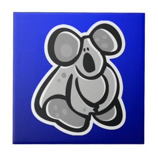Cute Koala; Blue Small Square Tile