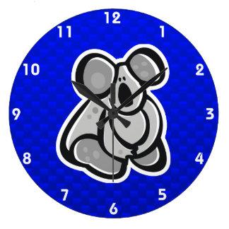 Cute Koala; Blue Wallclock
