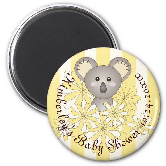 Cute Koala Boy Girl Baby Shower | Birthday Yellow