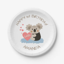 Cute Koala Cuddles ID386 Paper Plate