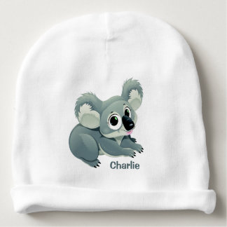 Cute Koala custom name baby beanie