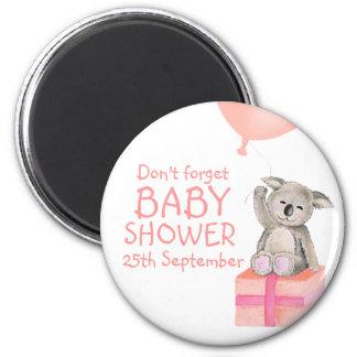 Cute koala don't forget baby shower magnet