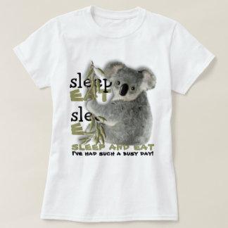 Cute Koala Eat And Sleep Shirt